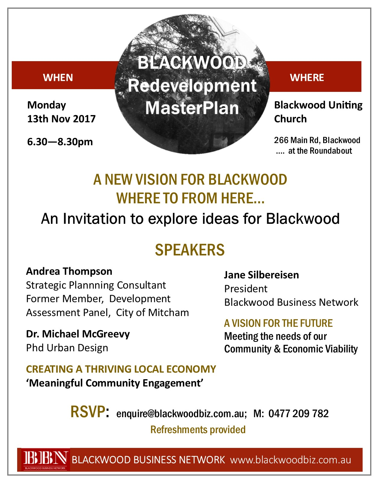 Blackwood Redevelopment MasterPlan Information Session